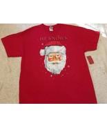 "NEW Men's Short Sleeve T-shirt,  Santa, ""He Knows"", Red, Sz XL Free Ship... - $14.99"