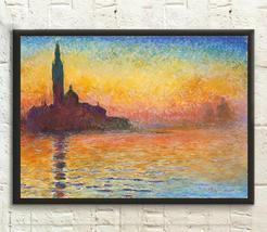 San Giorgio Maggiore at Dusk 19081912 Claude Monet Print - Fine Art Prin... - $16.99+