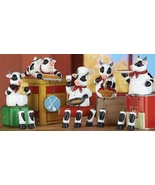 Set of 5 Kitchen Shelf Cow Sitters Decor - $24.95