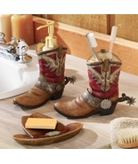 Western Theme Cowboy Boots Bath Accessories - $22.95