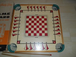 Old Vtg Genuine CARROM GAME BOARD 2 Sticks Wall Art Decor No Pieces Game... - $98.99