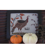 Mister Turkey cross stitch punchneedle embroidery chart By The Bay Needl... - $14.85