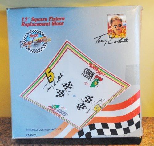 "Kellogg's Corn Flakes #5 Terry LeBonte 12"" Square Light Fixture Replacement Glas - $24.71"