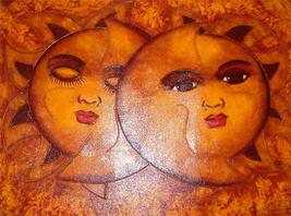 "2003 TONY ALMONTE ""Eclispe"" Contemporary Love Romantic Art  Dominican Pai - $3,852.49"