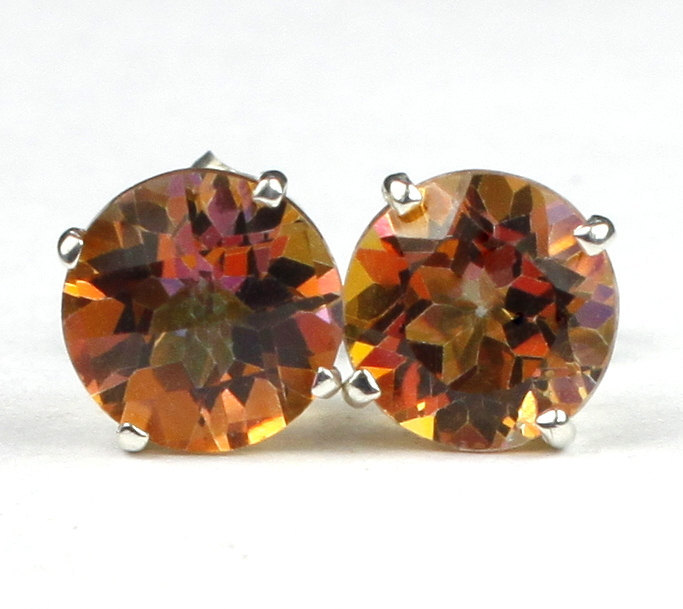 Primary image for SE112, Twilight Fire Topaz, 925 Sterling Silver Post Earrings