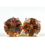 SE112, Twilight Fire Topaz, 925 Sterling Silver Post Earrings - $71.98