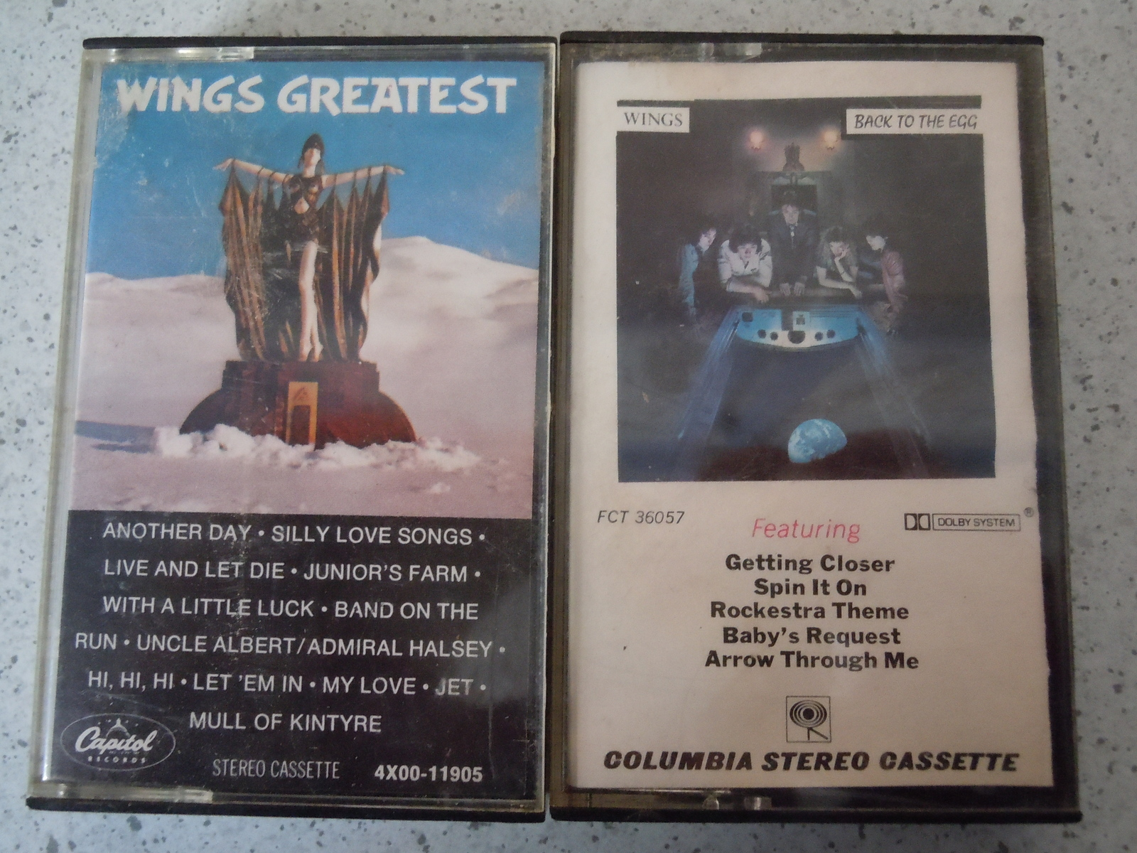 Wings Back to the Egg & Wings Greatest Hits Cassette Tapes