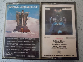 Wings Back to the Egg & Wings Greatest Hits Cassette Tapes - $5.99