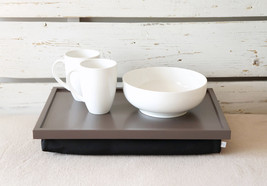 Stable table, iPad stand or Breakfast serving Tray - XL size - Greyish Brown wit - $68.00