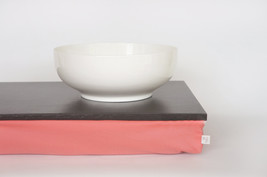 Bed tray or Laptop Lap Desk without edges - Graphite grey with light cotton mix  - $49.00