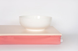 Bed tray or Laptop Lap Desk without edges - soft peach with light cotton mix fab - $49.00