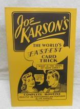 Joe Karson's World's Fastest Card Trick - $24.50