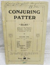 Conjuring Patter by Selbit Vol. 1 - $63.70