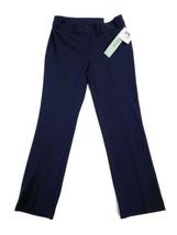 Anne Klein Women's Petite Straight Leg Dress Pants Slacks Trousers Navy 4P - $29.69