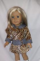 American Girl Animal Print Doll Dress CUTE-long sleeves-stylish!! fits 1... - $14.84