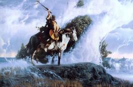 Richard Luce Spirits of the Rising Mist Little Big Horn Print Horse & Wa... - $158.39