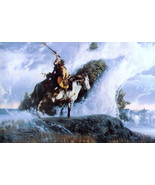 Richard Luce Spirits of the Rising Mist Little Big Horn Print Horse & Wa... - $158.39