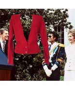 1980s vintage rhinestone red angora sweater size small medium 6 8 - $39.99