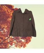 1950s vintage houndstooth rockabilly brown jacket size medium large 8 10 - $24.99