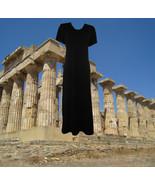90s vintage maxi black goth grunge gothic lands end stretch dress size s... - $45.00