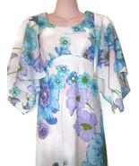 1970s vintage deadstock floral hawaiian maxi dress size extra small xs x... - $99.99
