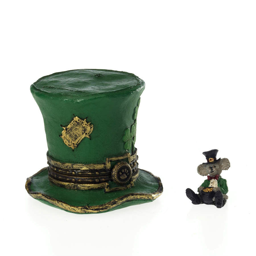 "Boyds Bears Treasure Box ""Lucky's Top Hat w/Paddy McNibble"" #4026264-1E-NIB-2011"