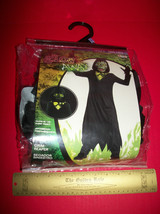 Fashion Holiday Disguise Boy Costume 8 Medium Grim Reaper Glow In Dark H... - $15.19