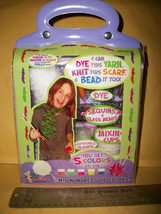Craft Gift Bead Shop Kit Learn To Dye White Yarn Knit Scarf Tote Girl Be... - $18.99