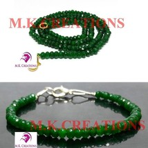 "dyed green jade 3-4mm Beads Beaded 20"" Necklace 7"" Bracelet Jewelry Set - $21.88"
