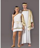 EXCELLENT MEN'S EMPEROR JULIUS CAESAR TOGA HALLOWEEN COSTUME SIZE:  LG - $159.95