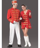 EXCELLENT MEN'S RED MARCHING BAND UNIFORM COSTUME MED - $189.95