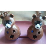 Set of 2 Super Pet Treat Toy Bird Large Raccoon Bear Bell Chain Cage Pla... - $14.67