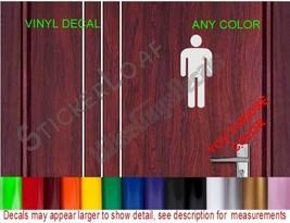Bathroom Mens Men Restroom Decal Store Business Shop Storefront Restaurant Salon - $4.99+