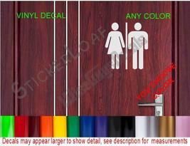 Bathroom Unisex Restroom Decal Store Business Shop Storefront Restaurant Salon - $6.99+