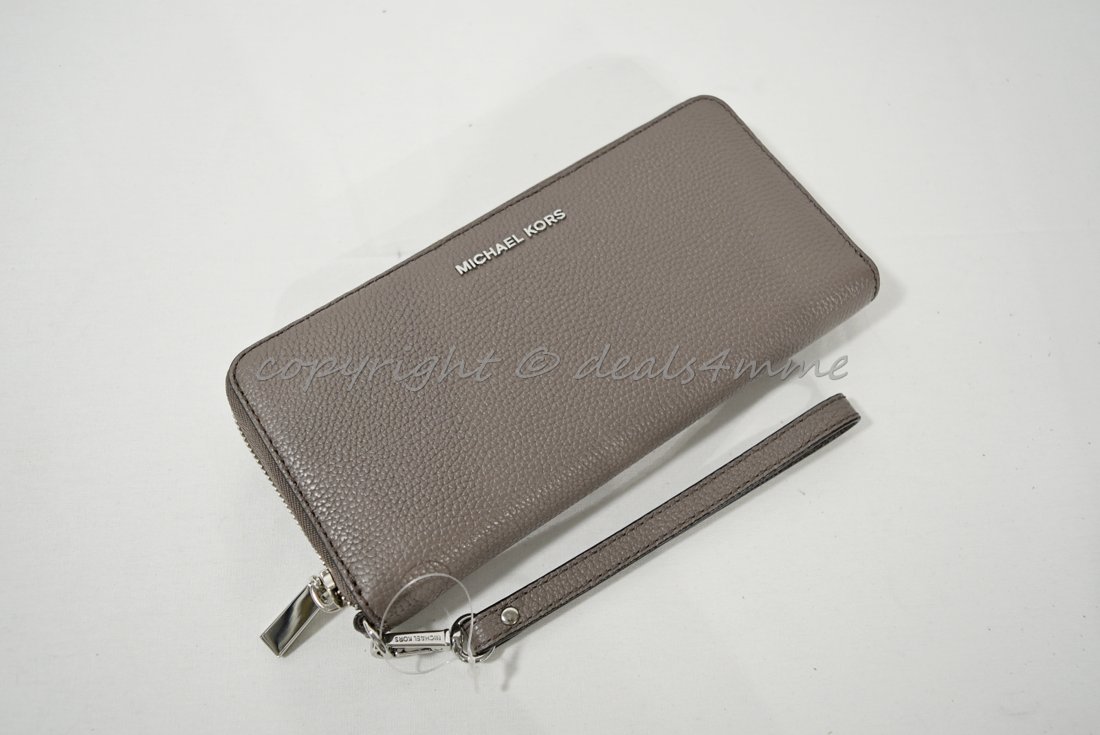 3411fc7e4d4c S l1600. S l1600. Previous. Michael Kors Mercer Travel Continental Wallet  in Cinder - Grey Pebble Leather