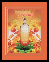 2005 Absolut Apeach Vodka Framed 11x14 ORIGINAL Vintage Advertisement - $32.36