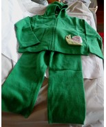 NWOT -CASHMIRACLES Boy or Girl's Green 100% Cashmere Pants & Hoodie Set ... - $74.79