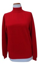 NWT - CHARTER CLUB Deep Red 100% Cashmere Mock Turtleneck Sweater - Size S - $56.09