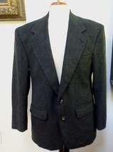 EUC - BILL BLASS Man's Charcoal 100% Cashmere 2-Button  Jacket - Size 40S - $74.79