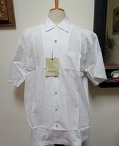 $69.00 - NWT - TOMMY BAHAMA Ivory 100% Cotton Button Front Shirt - Size L - $37.39