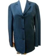 NWT -  DKNY CLASSICS (Donna Karan) Indigo Blue Nylon/Linen Jacket - Size 8 - $46.74