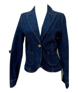 NWT - PETITE SOPHISTICATE STRETCH Dark Blue Jeans 1-Button Jacket - Size 2 - $18.69