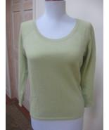 EUC - ANN TAYLOR Light Heather Green 100% Cashmere Round Neck Sweater - ... - $23.36