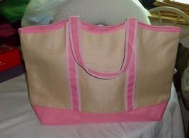 NWOT - ESTEE LAUDER (GWP) Beige & Pink Canvas L... - $14.01