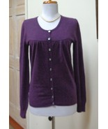 EUC - APT. 9 Heather Purple 100% Cashmere Cardigan/Sweater - Size S - St... - $28.04