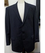 NWT - DKNY ESSENTIALS Black 100% Wool 3-Button Jacket Blazer Size 46 L-F... - $74.79