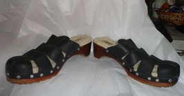 Euc   Ugg Black Shearing Lined Clogs/Sandals/Shoes   Size 8 - $34.64