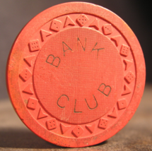 """Rare 1951 Roulette Obsolete Arodie Casino Chip From: """"The Bank Club""""- (s... - $37.50"""