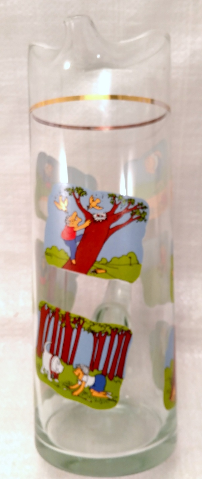 Golfer Martini Pitcher Glass Beaker Style Barware - Ashby Golf Cartoon