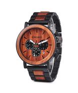 Bobo Bird Men's Steel Wooden Quartz Chronograph Wrist Watch P09-3 - $47.00